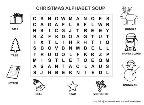 Sopa De Letras De Navidad En Inglés