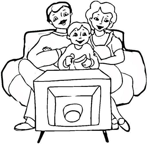 Ver Televisión Para Colorear