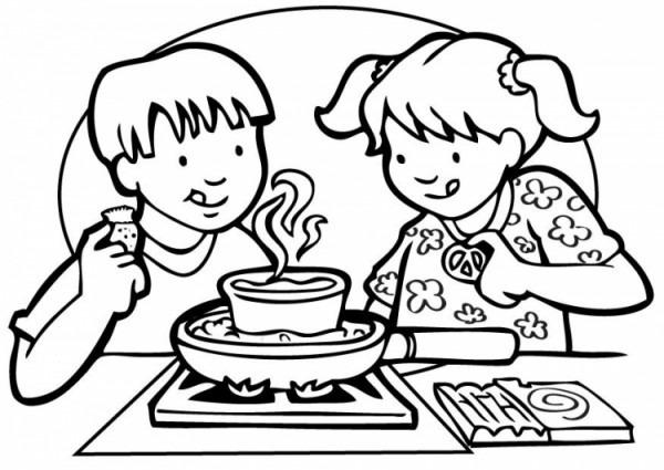 Comedor Escolar Para Colorear