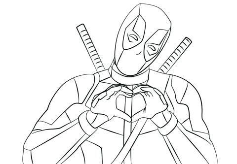 Deadpool Para Colorear Para Adpool Deadpool Imagenes Para Dibujar