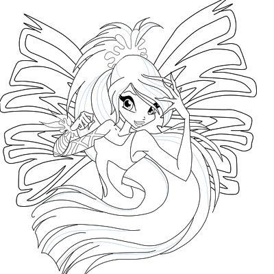 Winx Club Friend's  Â¡dibujos Para Colorear Winx Club Sirenix!