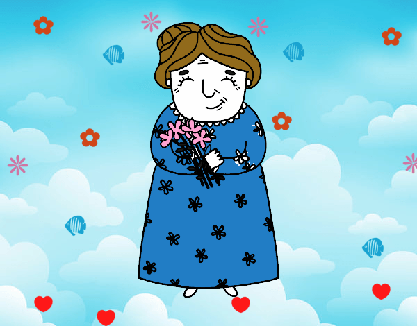 Dibujo De Feliz Dia De Las Abuelitas Pintado Por En Dibujos Net El