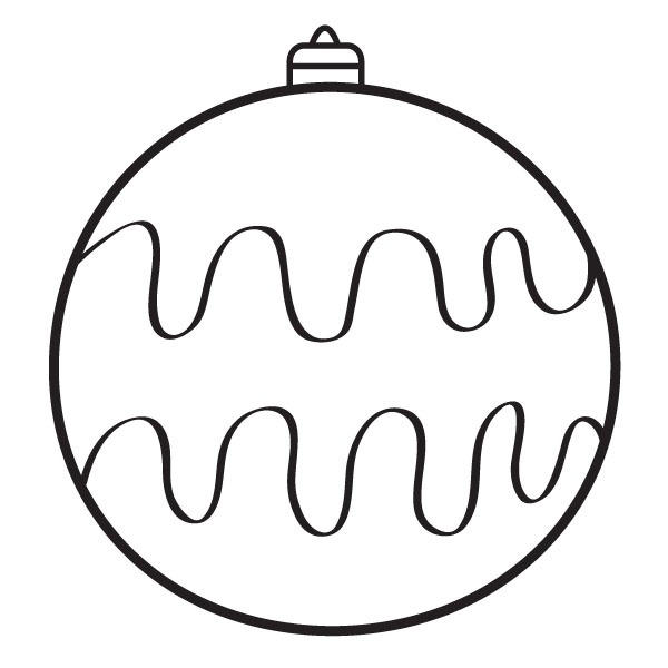 Bola Navidad Ondulada
