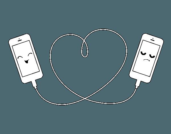 Dibujo De Amor Móvil Para Colorear