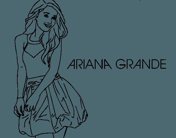 Dibujo De Ariana Grande Para Colorear