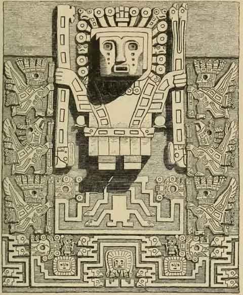 Puerta Del Sol Tiahuanaco Para Colorear