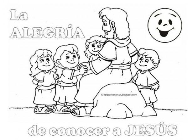 Resultado De Imagen Para Jesus Y Los Niños Para Colorear