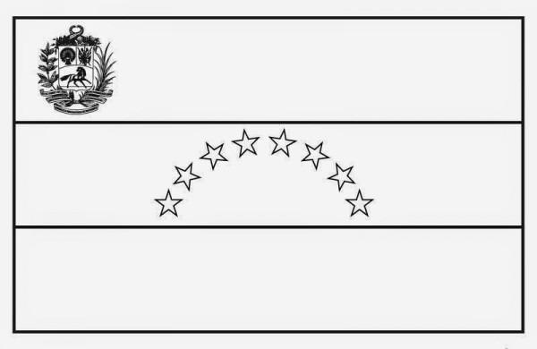 √ Bandera De Venezuela Dibujo Para Colorear