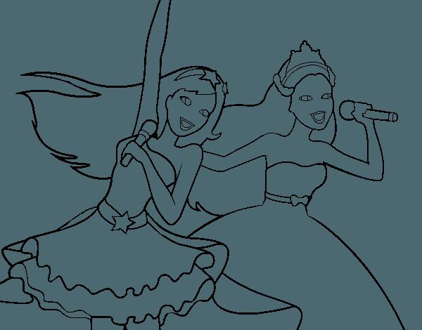 Barbie Y La Estrella Del Po Para Colorear