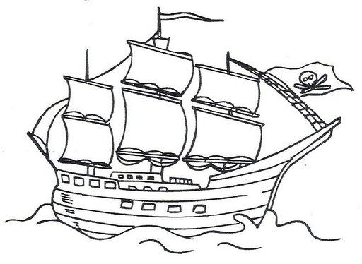 Pintar Barcos Piratas