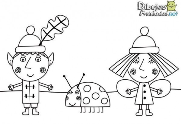 Dibujos Para Colorear Del Pequeño Reino De Ben Y Holly