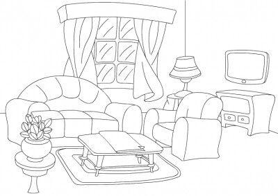 Dibujo De Sala Para Colorear