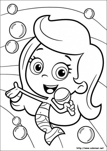 Dibujos Para Colorear De Bubble Guppies