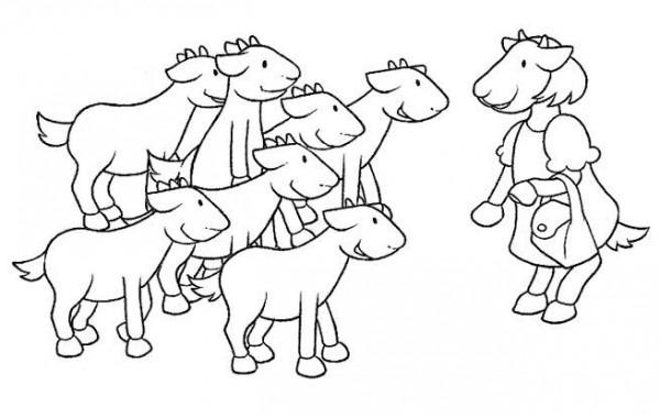 Dibujos Para Pintar De Los 7 Cabritillos  Cabritillos  Dibujos