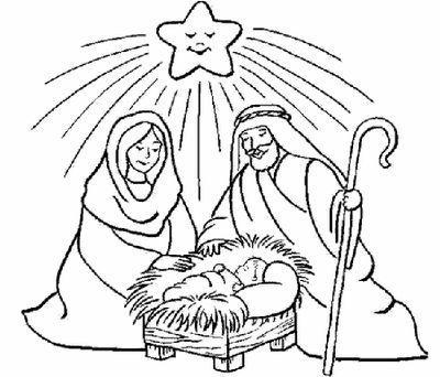 Dibujos Para Colorear Del Nacimiento De Jesús