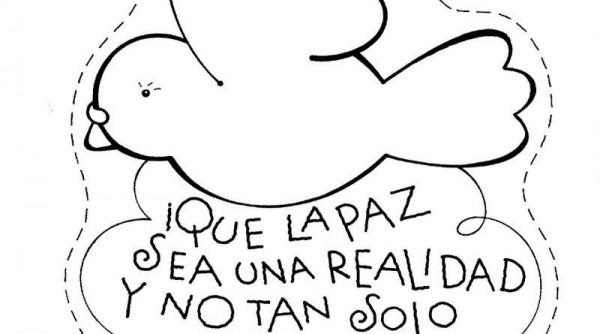 Dibujos Para Colorear Del Día De La Paz  Para Conmemorar El Día De
