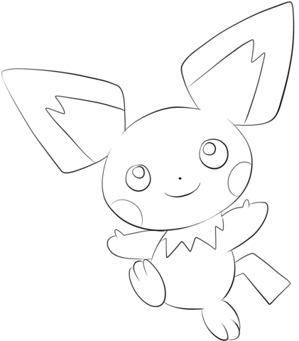 Click To See Printable Version Of Pichu Coloring Page