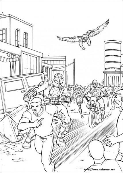 Dibujos Para Colorear De Capitán América   Guerra Civil