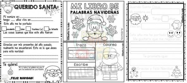 Fantástico Material Creativo Para Realizar La Carta A Santa Claus