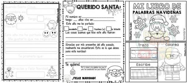 Fabuloso Material Creativo Para Realizar La Carta A Santa Claus Y