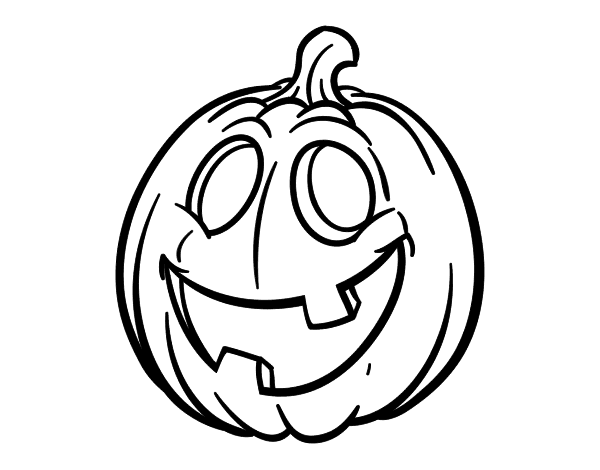 Dibujo De Calabaza De Halloween Para Colorear