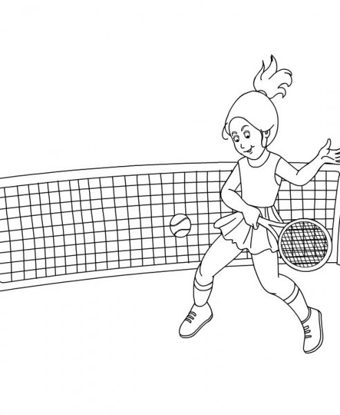 Dibujos Para Pintar De Tenis  Dibujos Para Colorear De Tenis