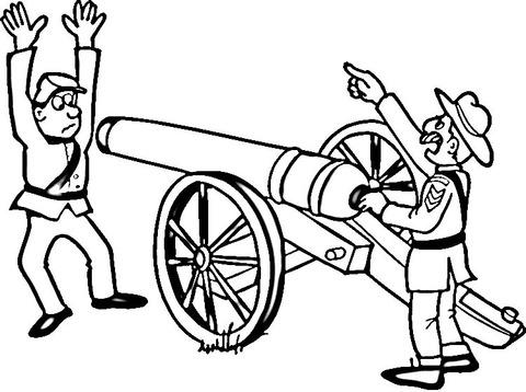 Dibujo De Guerra Civil Americana Para Colorear