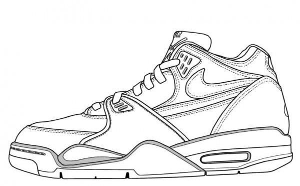 Los Dibujos Para Colorear   Dibujos De Zapatos Para Colorear