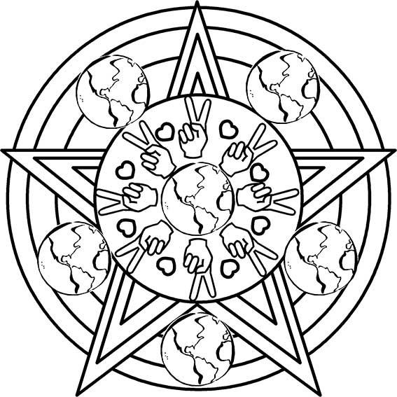 Mandala Con Estrella De Cinco Puntas