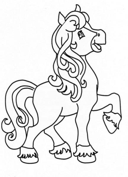 Dibujo De Poni Para Colorear  Dibujos Infantiles De Poni  Colorear