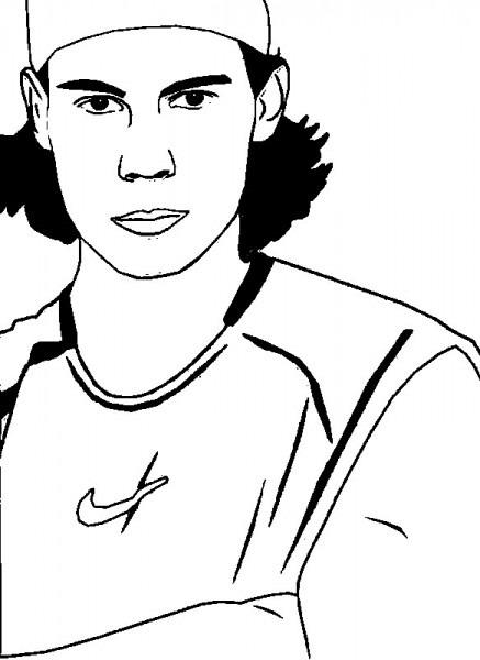 Dibujo Para Colorear Tenis   Rafael Nadal 8