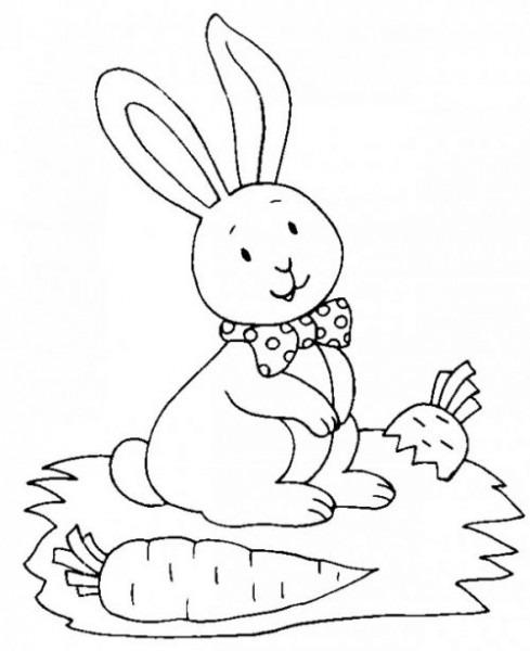 Dibujos De Conejitos Bebés Para Colorear