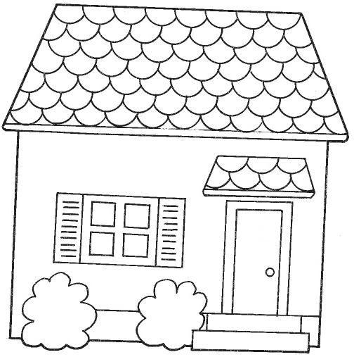 Resultado De Imagen De Dibujos De Fachadas De Casas Para Colorear