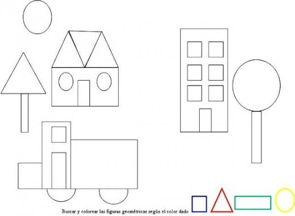 Figuras Geometricas Para Colorear Ejercicio