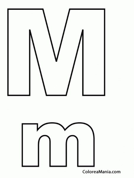 Letra M Para Colorear