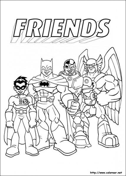 Dibujos Para Colorear De Dc Comics