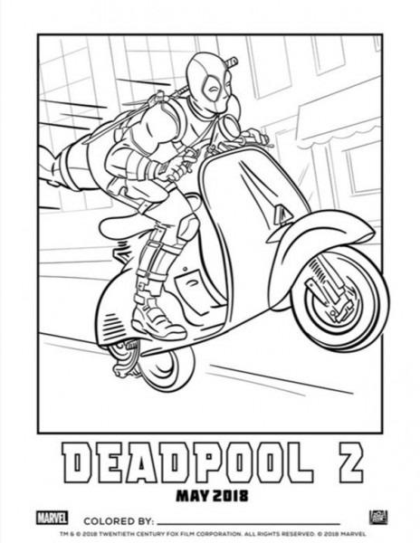 Deadpool 2 Avance  Cuadernos Para Colorear