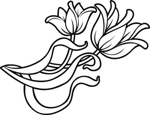 Dibujo De Flores Para Decorar Para Colorear