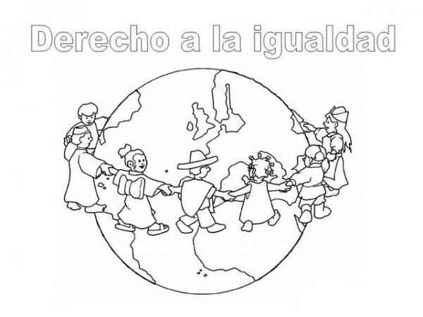 Dibujos Para Pintar Del Día Internacional De Los Derechos Humanos