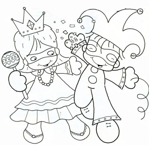 Dibujos De Carnaval Para Escolares