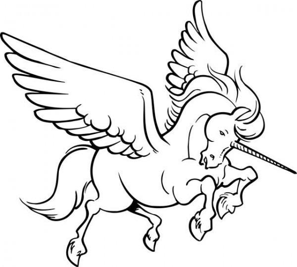Dibujos De Unicornios Con Alas Para Colorear E Imprimir