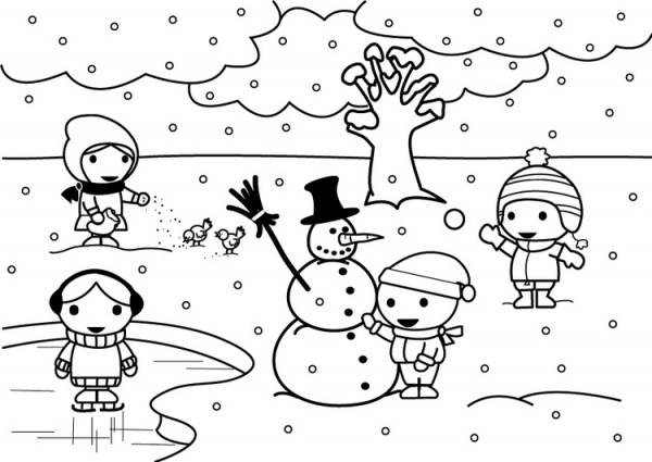 Dibujo Para Colorear 2b Invierno