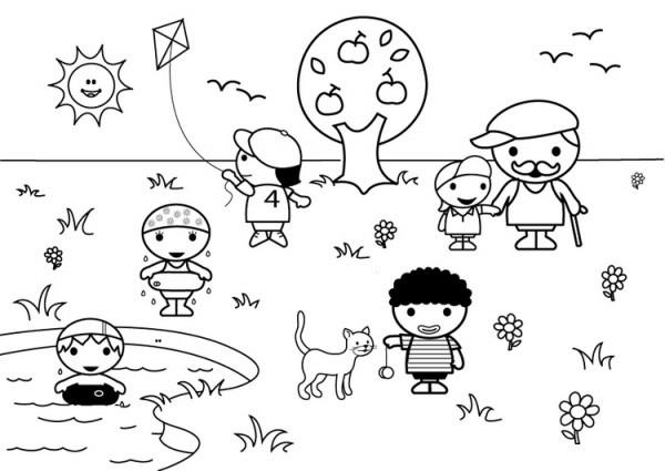 Dibujo Para Colorear 2b Verano