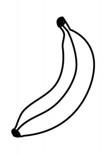 Dibujo Para Colorear Banana