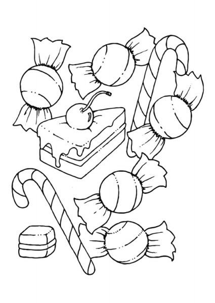 Dibujo Para Colorear Golosina