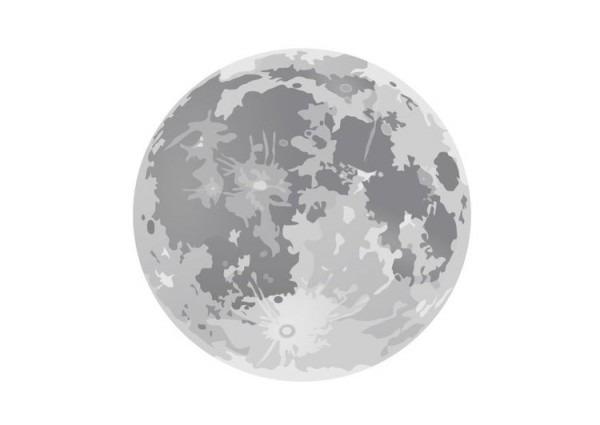 Dibujo Para Colorear Luna Llena