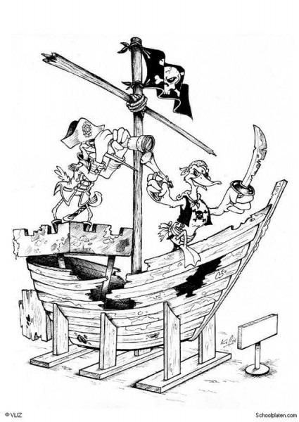 Dibujo Para Colorear Piratas