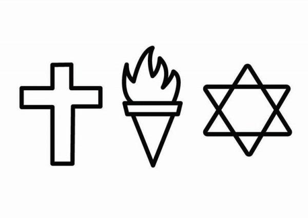Dibujo Para Colorear Religión