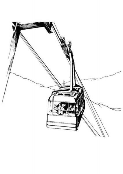 Dibujo Para Colorear Teleférico