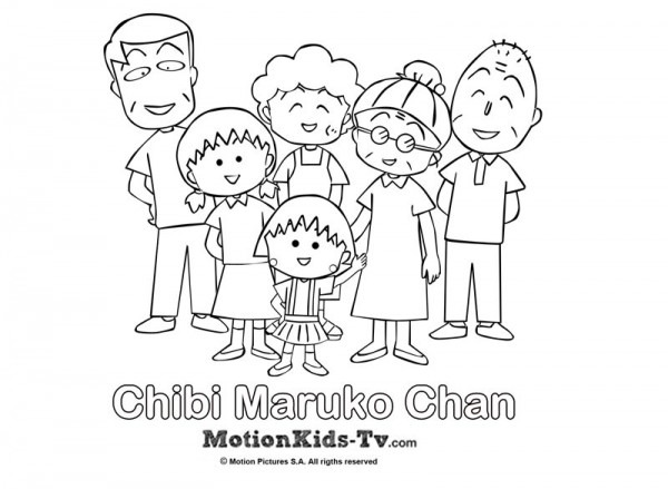 Coloring Pages Chibi Maruko Chan